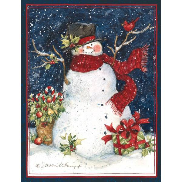 Snowman Scarf Boxed Christmas Cards