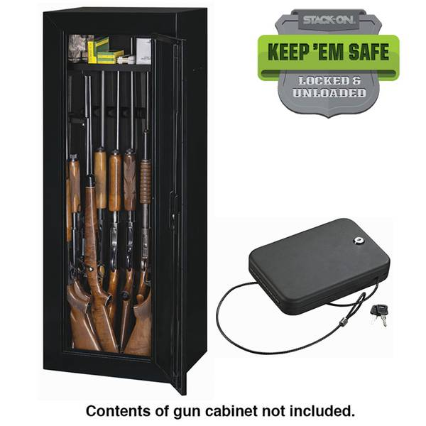 Stack - On 14 Gun Steel Security Cabinet with Free Portable ...