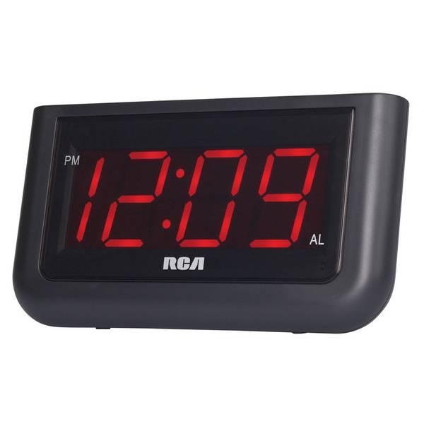 "RCA Digital Alarm Clock with Large 1.4/"" Display"