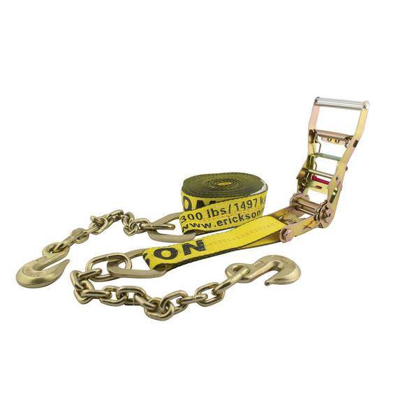Ratchet Tie Down Strap with Chain