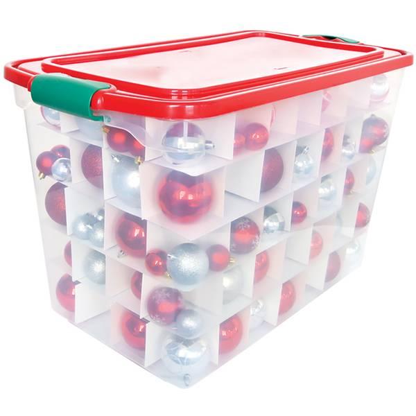 Homz 112 Qt Christmas Ornament Storage Box 3450horg 06 Blain S Farm Fleet
