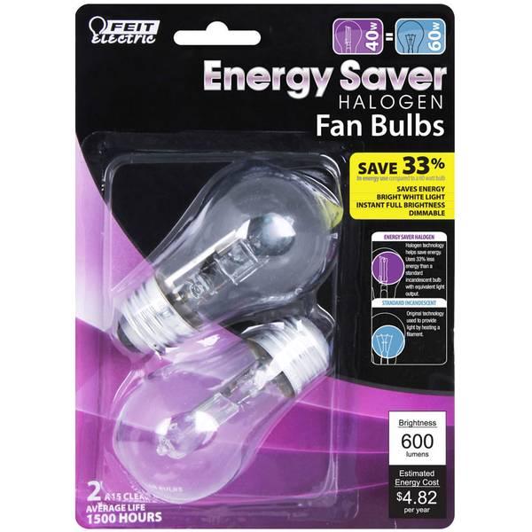 Energy Saving 40 Watts Halogen A15, 2 Pack