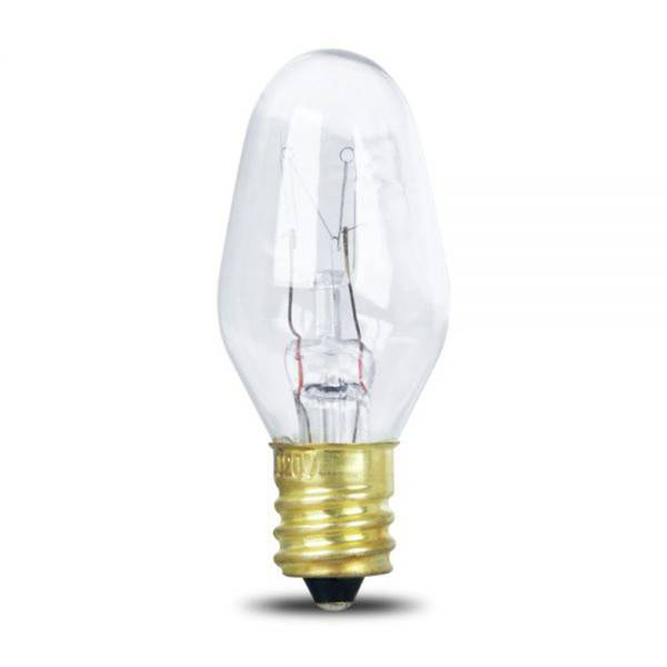 10 Watts Incandescent Appliance with Candelabra Base, 2 Pack