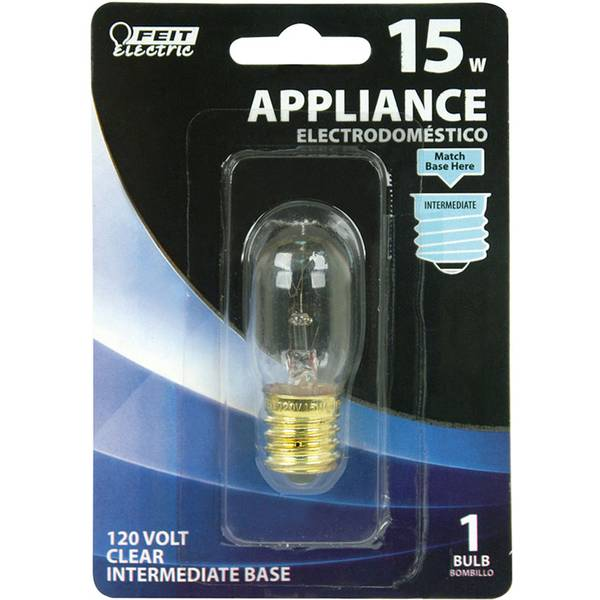 15 Watt Incandescent T7 Appliance Light Bulb