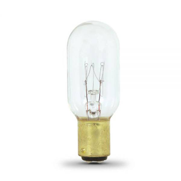 25 Watts Incandescent T8 Appliance with Bayonet Base