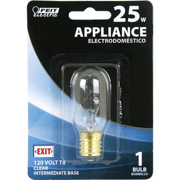 25 Watt Incandescent T8 Appliance Light Bulb