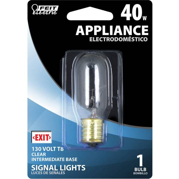 40 Watt Incandescent T8 Appliance Light Bulb
