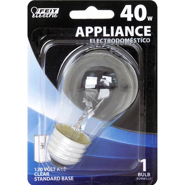 40 Watt Incandescent A15 Appliance Clear Light Bulb