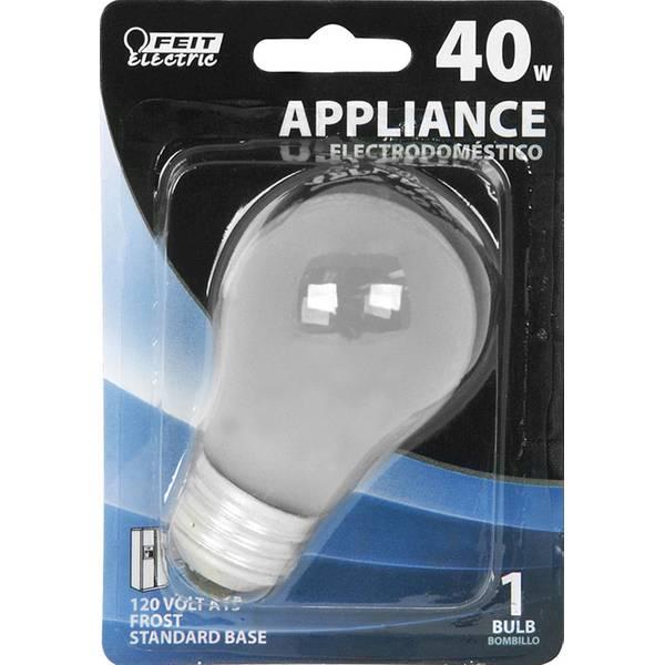 40 Watt Incandescent A15 Appliance Frost Light Bulb