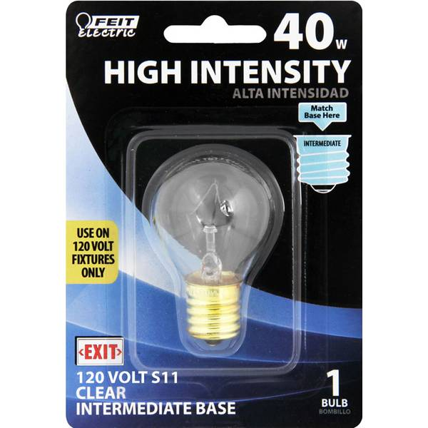 40 Watt Incandescent S11 High Intensity Light Bulb