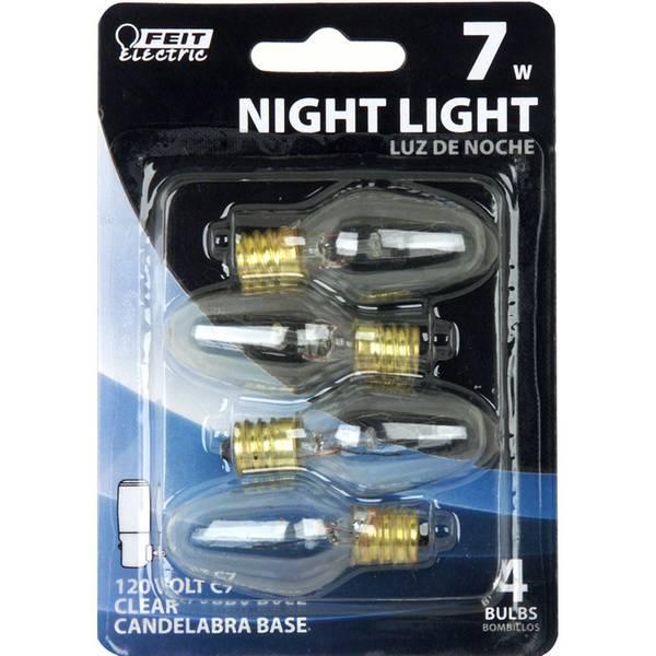 7 Watt Incandescent C7 Night Light Bulb