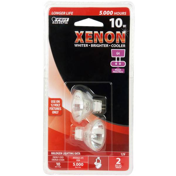 2 Pack 10 Watt MR11 G4 Base Xenon Halogen Bulb