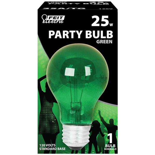 Green 25W A19 Party Bulb