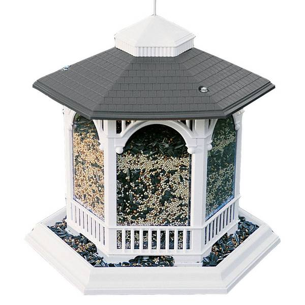 Deluxe Gazebo Plastic Bird Feeder
