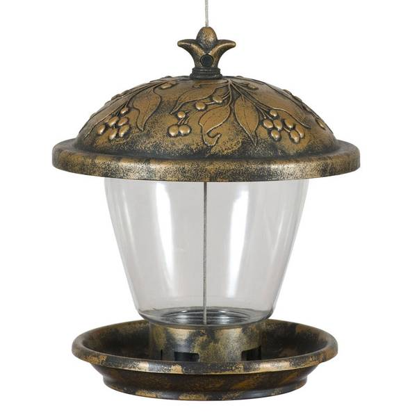 Holly Berry Gilded Chalet Feeder