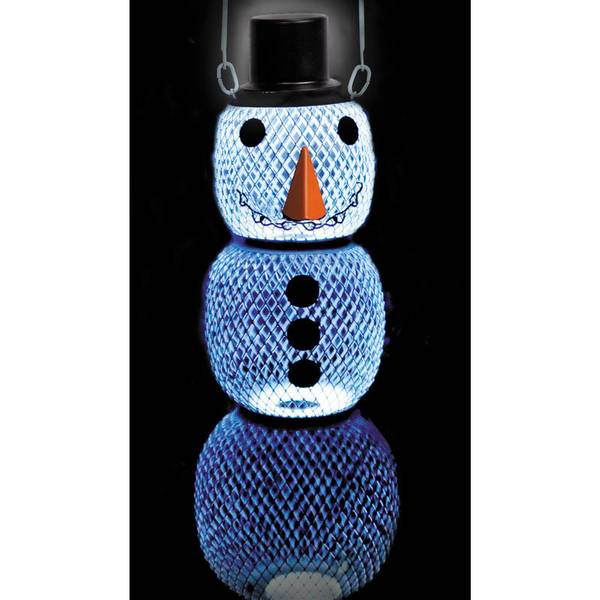 No/No Solar Hat Snow Man Wild Bird Feeder
