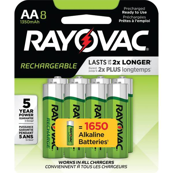 Recharge NiMH AA Batteries 8-Pack