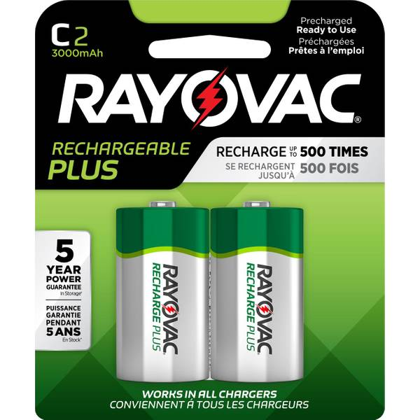 "Recharge Plus NiMH ""C"" Batteries"