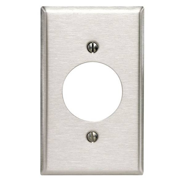 Stainless Steel Single Outlet Wall Plate
