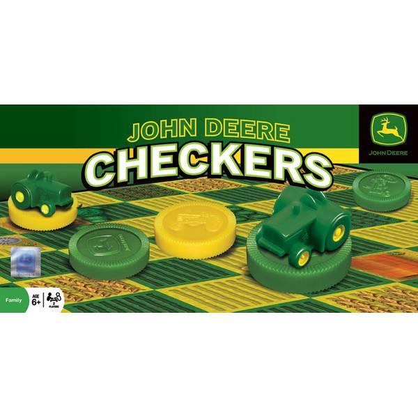 John Deere Classic Checkers Board Game