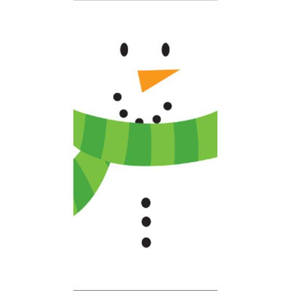 Creative converting snowman smile christmas swankies for Snowman pocket tissues
