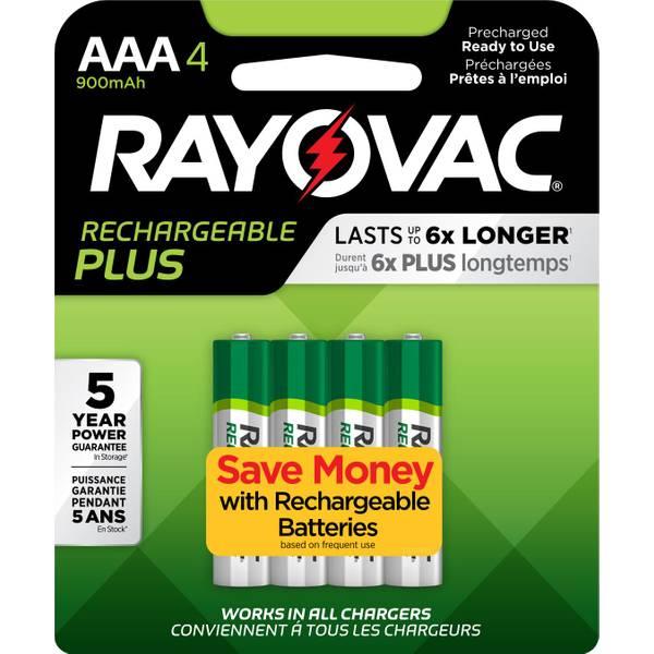 Recharge Plus NiMH AAA Batteries 4-Pack