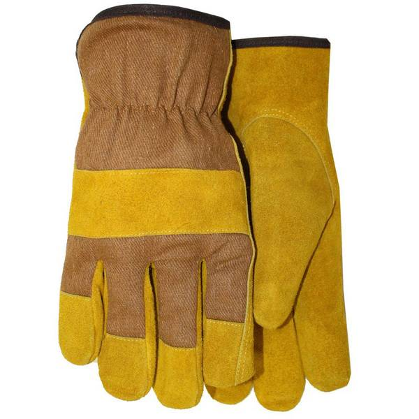 Fleece Foam Lined Leather Palm Gloves