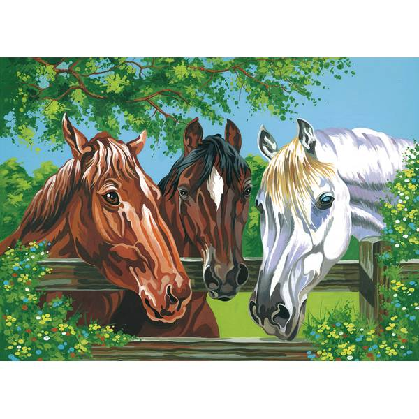 Horses Painting By Numbers
