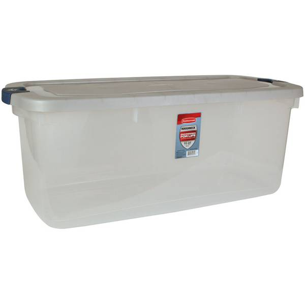 Roughneck Clear Tote with Steel Lid
