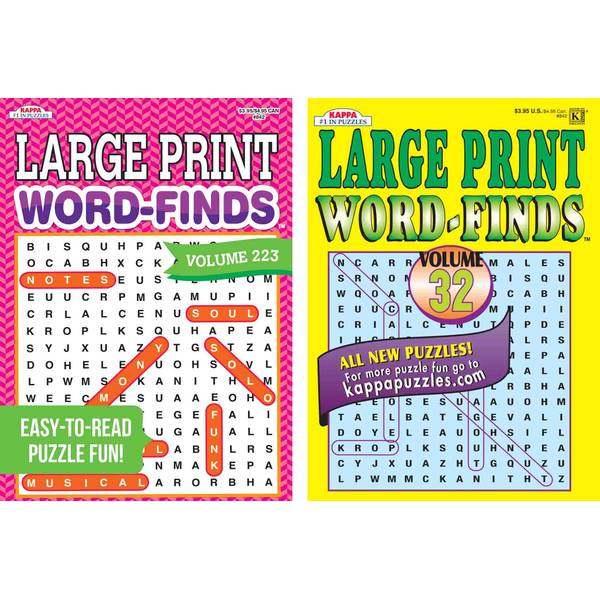 Universal Map Print Word-Find Puzzle Book Assortment