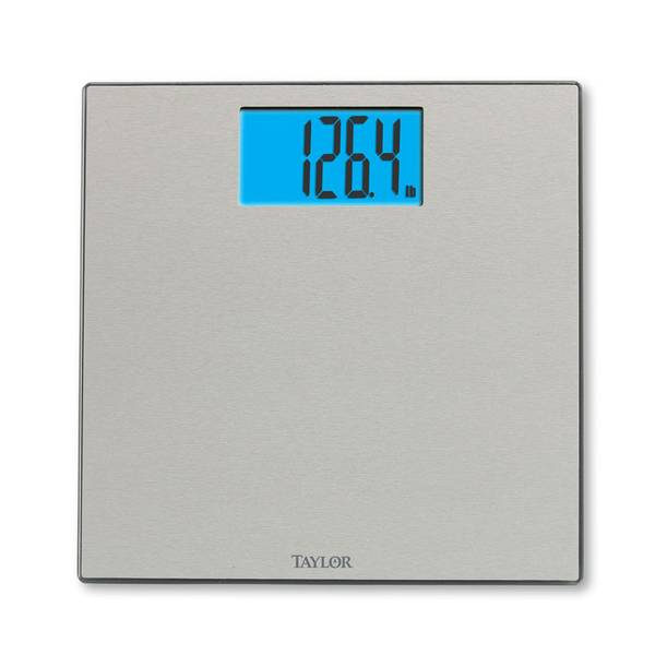 Taylor Bathroom Scales >> Taylor Embossed Stainless Steel Digital Bathroom Scale