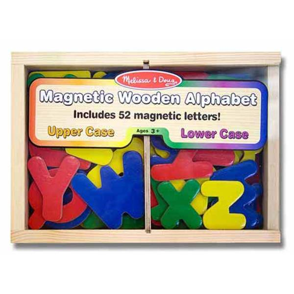 52-Piece Wooden Alphabet Magnets