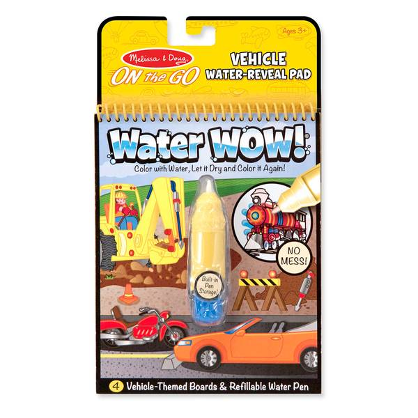 Coloring Book With Water Pen : Melissa & Doug Water WOW! Vehicles Coloring Book & Pen