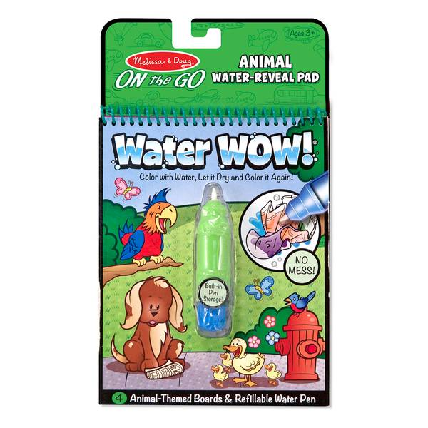 Coloring Book With Water Pen : Melissa & Doug Water WOW! Animals Coloring Book & Pen