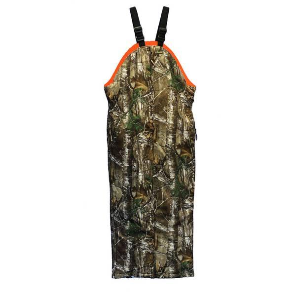 c17d1f3717889 Gamehide Men's Realtree Xtra Camouflage & Blaze Orange Chameleon Reversible  Hunting Bib Overalls