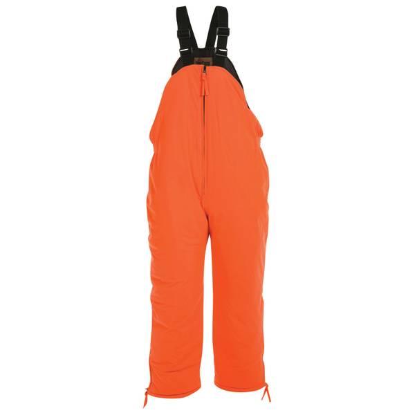 Deer Camp Men's Orange Insulated Hunting Bib Overalls