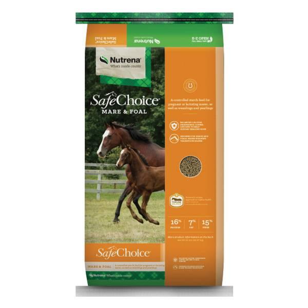 Nutrena SafeChoice Mare and Foal Horse Feed - 94513 | Blain's Farm ...