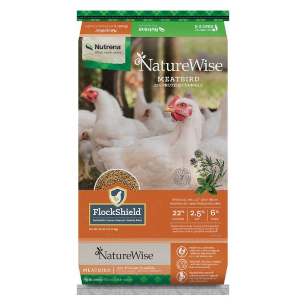 NatureWise Meatbird 22% Crumbles Chicken Feed