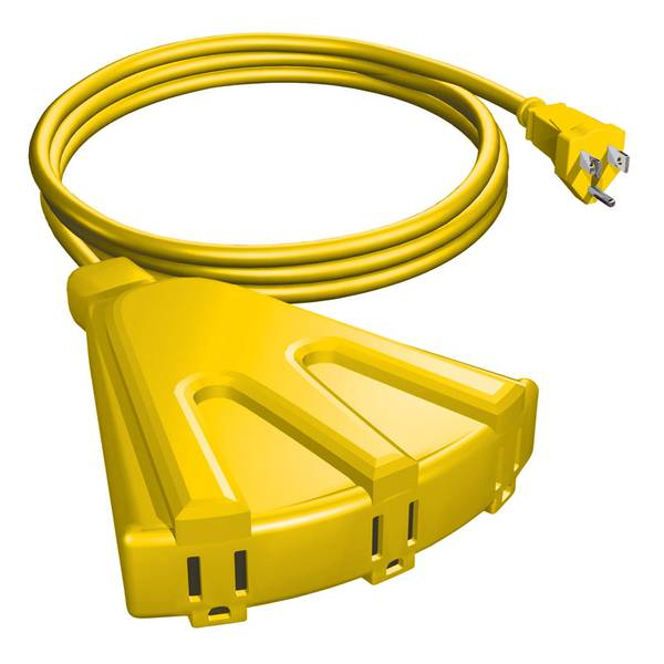 8' 3 Outlet Outdoor Extension Cord