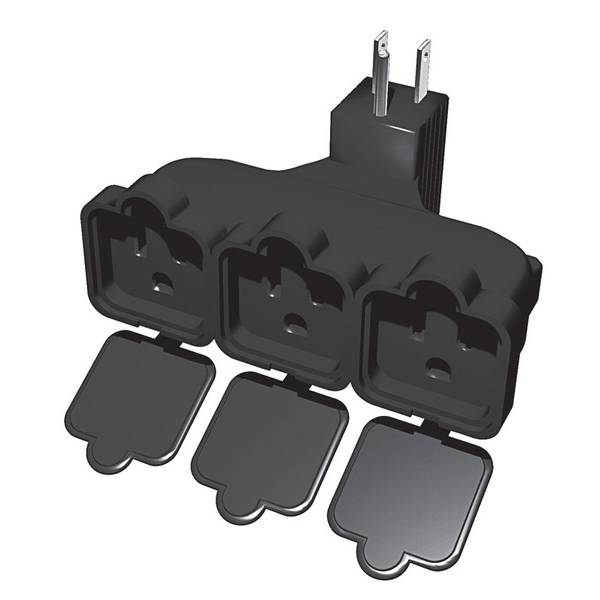 3 Outlet Outdoor Covered Adapter