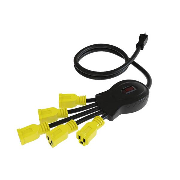 PowerSquid 5 Outlet Flexible Outlet Multiplier