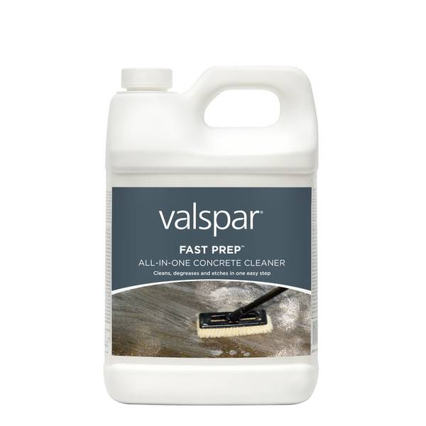 Valspar fast prep concrete cleaner for Spray on concrete cleaner