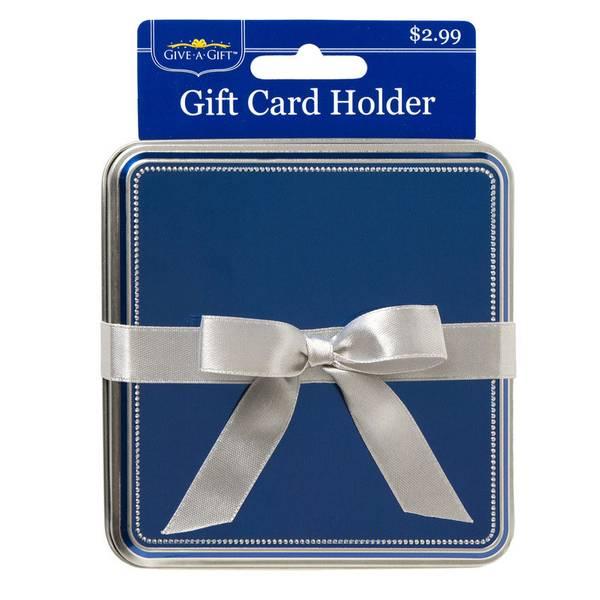Blue Gift Card Tin