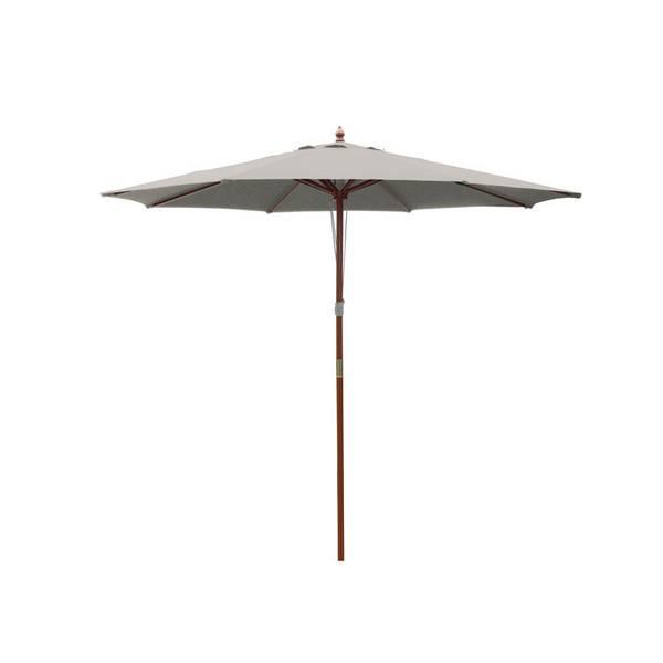 9u0027 Wooden Market Patio Umbrella