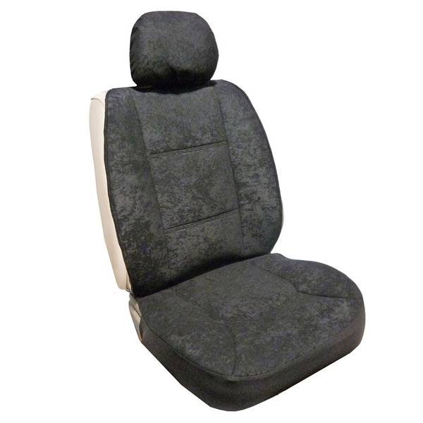 Allison Black Foam Velour Sideless Seat Cover
