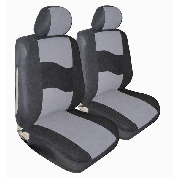 Gray Standard Velour Low Bucket Seat Covers