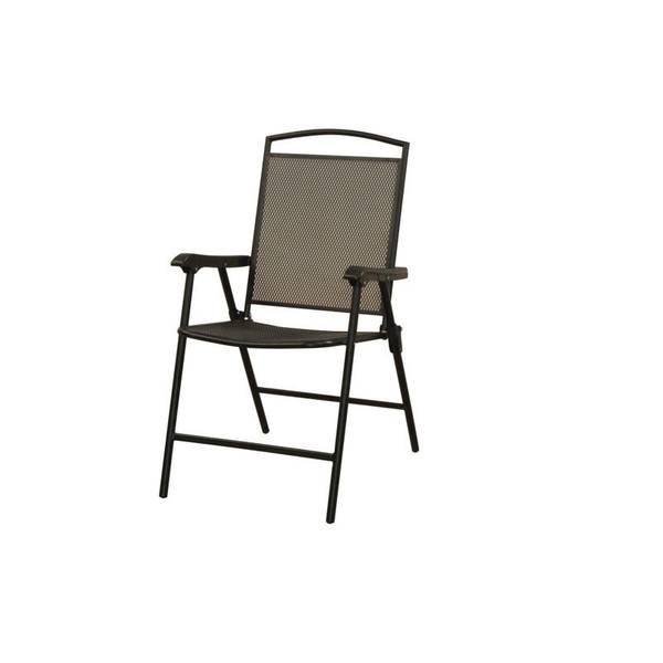 Courtyard Creations Mesh Wrought Iron Folding Chair