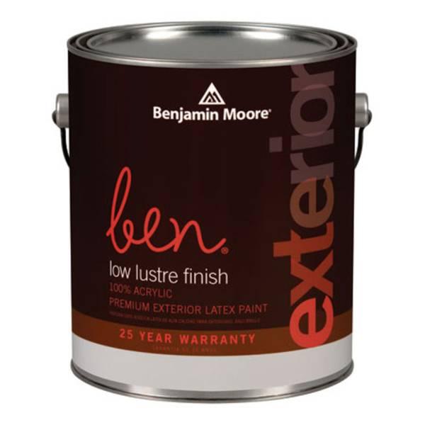 Benjamin Moore Ben Low Luster Finish Premium Exterior Latex Paint