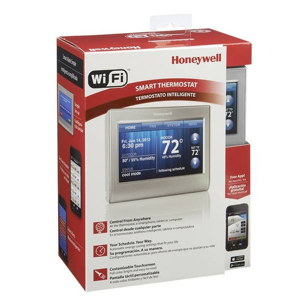 honeywell wi fi touchscreen smart thermostat. Black Bedroom Furniture Sets. Home Design Ideas