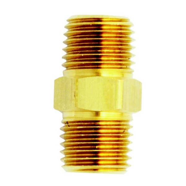 "1/4"" x 3/8"" Male Hex Nipple"